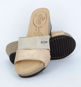 Papuci confortabili Fly Flot EXS0404 Bej
