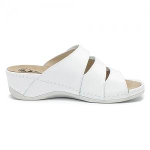 Papuci cu talpa ortopedica 701-18 Alb3
