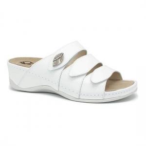 Papuci cu talpa ortopedica 701-18 Alb0