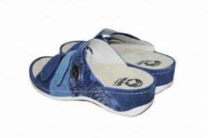 Papuci cu talpa ortopedica 701-18 Albastru3
