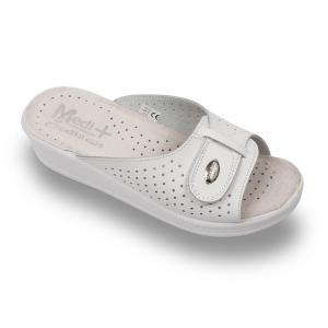 Papuci dama Medi+ 312SB Alb