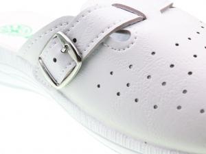 Papuci din piele ecologica DF1803WH4