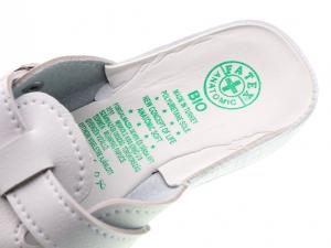Papuci din piele ecologica DF1803WH3