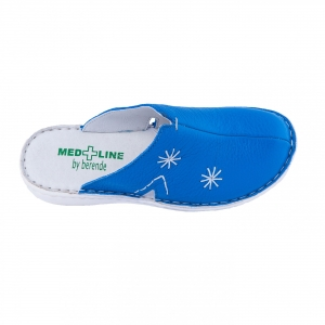 Saboti de piele Medline, Albastrii 298