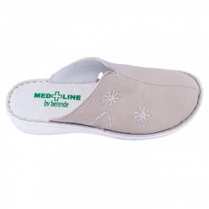 Saboti de piele Medline, Bej 2981