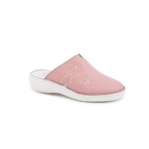 Papuci medicinali de piele Medline, Roz1