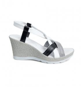 Sandale confortabile Batz Malibu EXS100 Alb1