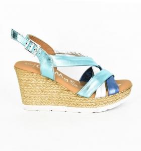 Sandale confortabile cu platforma EXS0658 Verde1