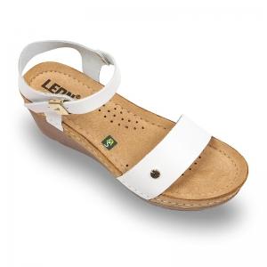 Sandale confortabile Leon 1015 Alb