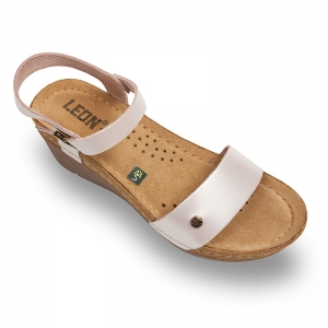 Sandale confortabile Leon 1015 Perla