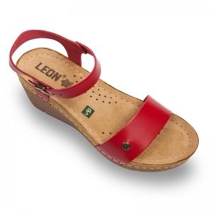 Sandale confortabile Leon 1015 Rosu