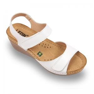 Sandale confortabile Leon 1041 Alb