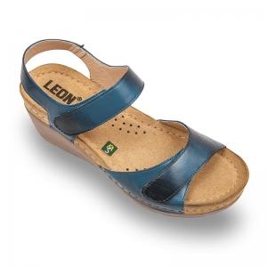 Sandale confortabile Leon 1041 Albastru
