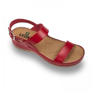 Sandale confortabile Leon 920 Rosu0
