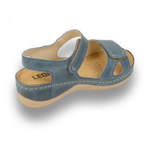Sandale confortabile Leon 935 Albastru2