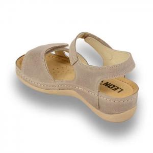 Sandale confortabile Leon 935 Gri-Maroniu2