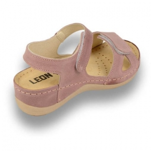 Sandale confortabile Leon 935 Rose3