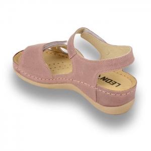 Sandale confortabile Leon 935 Rose2