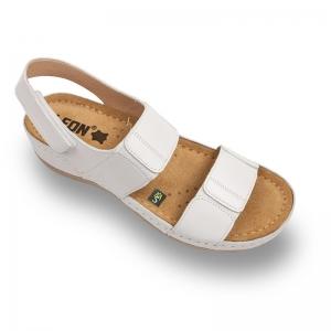 Sandale confortabile Leon 945 Alb0