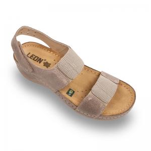 Sandale confortabile Leon 945 Gri-Maroniu