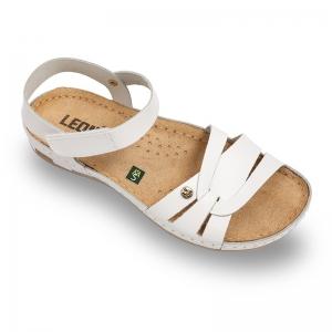 Sandale confortabile Leon 961 Alb