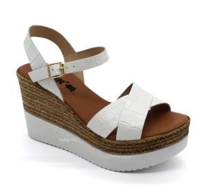 Sandale cu talpa ortopedica 1300 Alb0