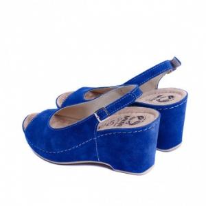 Sandale cu talpa ortopedica 505 Albastru3