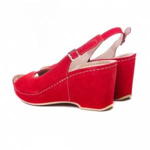 Sandale cu talpa ortopedica 505 Rosu3