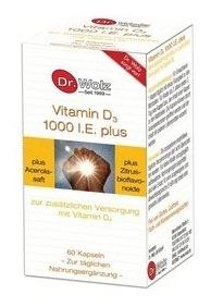 Vitamina D3 1000 I.E. plus Dr. Wolz  60 cp