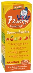 Suc BIO pentru copii cu fructe si legume de vara 7 pitici (cu pai), 0,2l