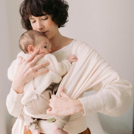 Wrap elastic Boba, model Ecru Dot. De la naștere la 15 kg.1