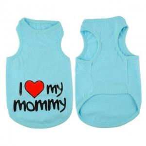 T-Shirt I Love My Mommy - Albastru L