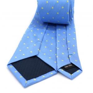 Cravata Albastra cu Buline Galbene
