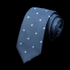 Set 5 accesorii - cravata albastra, batista, sosete diamond, ac de cravata agrafa, ac rever