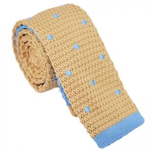Set 5 accesorii - cravata buline crem, batista, ac cravata agrafa birou, sosete, ac de rever