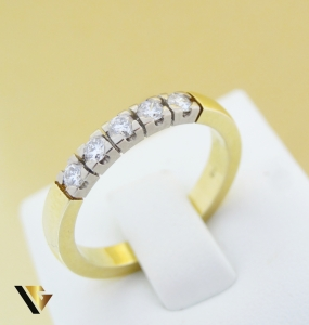 Inel cu diamante de cca. 0.30 ct, din aur 14k, 5.10 grame