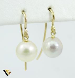 Cercei cu perle naturale de cultura, din aur 18k, 3.00 grame