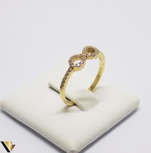 Inel cu Cristale de Zirconiu din Aur 14k, 1.42 Grame