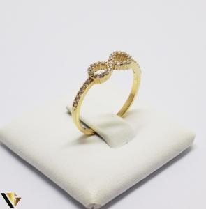 Inel cu Cristale de Zirconiu din Aur 14k, 1.41 Grame