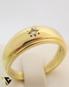 Inel cu diamant de cca. 0.05 ct, din aur 18k, 6.79 grame