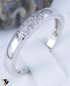 Inel cu diamante cca. 0.08 ct., aur alb 14k, 2.27 grame