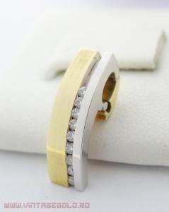 Pandant cu diamante de cca. 0.13 ct, din aur 14k, 3.11 grame
