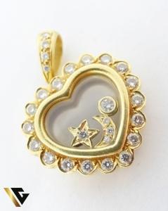 Pandant cu diamante de cca. 0.65 ct, din aur 18k, 9.26 grame