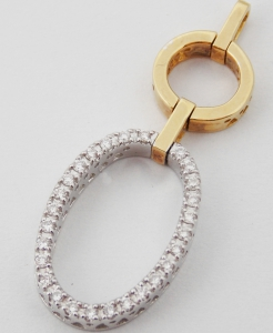 Pandantiv cu diamante, aur 18k, cca. 0.22 ct., 4.89 grame
