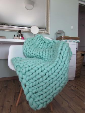 Patura fire gigant lana Merino 60x80 cm