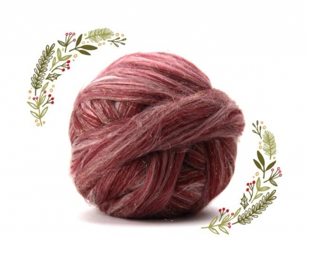 Fire Gigant lana Merino Christmas Blend Red