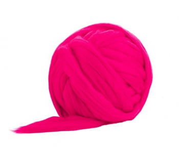 Fir Gigant lână Merino Hot Pink