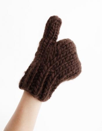 Kit tricotat manusi Fight the power3