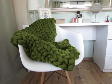 Patura fire gigant lana Merino 75x125 cm