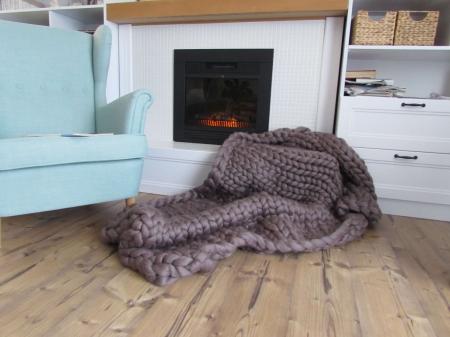 Patura fire gigant lana Merino 120x120 cm